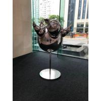 Quality Outdoor Stainless Steel Sculpture / Abstract Metal Sculpture With Mirror Finish for sale