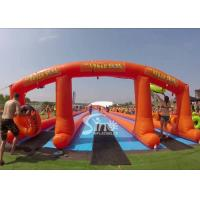 Wholesale 1000 ft commercial use outdoor double lane inflatable water slide N slip on sale for water parties fun from china suppliers
