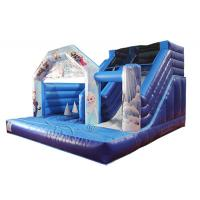 Wholesale Waterproof Frozen Bouncy Castle With Slide Indoor Playground Eco - Friendly from china suppliers