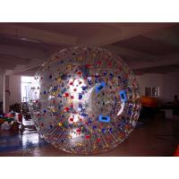Quality Great Fun Transparent Zorb Ball with Color Dots for Amusement Park for sale