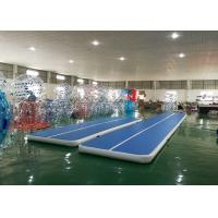 DWF Material Blue Inflatable Tumbling Air Track For Gymnastics