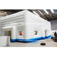Quality 20x10 Meter Inflatable Air Tent LED Light Outdoor Inflatable Cube Tent For Party for sale