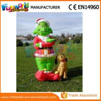 Wholesale Mini Oxford cloth Green Airblown Inflatable Grinch Inflatable Christmas Grinch With Dog from china suppliers
