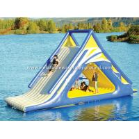 China Outdoor Floating Adult Inflatable Water Slide , Big Inflatable Water Toys For Lake on sale