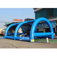 China 10x7 meters adults challenge running ball pit inflatable obstacle tent for outdoor sports events on sale