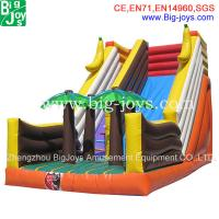 Wholesale inflatable wet and dry slide, double line slip & dip, outdoor inflatables from china suppliers
