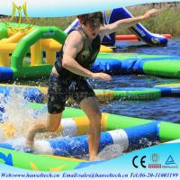 Quality Hansel popular happy hop inflatable water slide in the lake or sea for sale