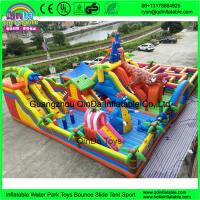 Quality Hot Sale Cartoon inflatable big fun city for sale, commercial Mega inflatable playground, inflatable amusement park for sale