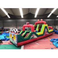 Wholesale Customizable Small Football Inflatable Obstacle Course For Kids 3 Years Warrenty from china suppliers