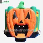 Halloween Inflatables Giant Pumpkin Kids Bounce House Double / Quadruple Stitching