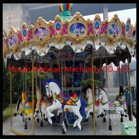 Wholesale RGB lights Fiberglass Carousel For Sale 16seats With Animals Amusement Park Carousel from china suppliers