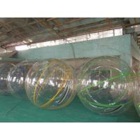 China Various colors Custom Transparent  Strips PVC Diameter 2m Inflatable Water Walking Ball on sale