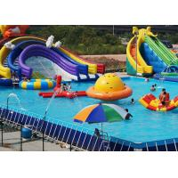 Wholesale Customized PVC steel Rectangular Ultra Metal Frame Pool for Water Park from china suppliers