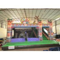 Wholesale Amusement Park Inflatable Bouncy Castle With Slide , Commercial Little Kids Jumping Castles from china suppliers