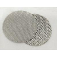Wholesale Customized Stainless Steel Wire Filter Mesh , 1 10 Micron Sintered Filter Disc from china suppliers