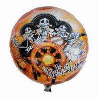 Wholesale 18-inch Halloween Mylar Balloon in Round Shape, Customized Designs are Accepted from china suppliers