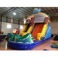 China Forest Elephant Animals Commercial Inflatable Water Slides Standard For Kids Under 15 on sale