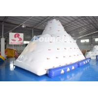 Wholesale Inflatable Water Climber / Inflatable Iceberg With Big Stainless Steel Anchor Ring from china suppliers