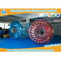 Wholesale 0.7mm TPU  Inflatable Water Roller / Water Walking Roller Blue And Red Color from china suppliers