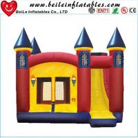 China High quality gaint PVC Inflatable bouncer castle toys with slide on sale