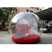 Customized Giant Human Size Inflatable Snow Globe With Blower , Air Pump