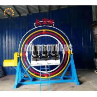Wholesale Rotating Human Gyroscope Ride , Theme Park Thrilling 3d Space Ring Ride from china suppliers