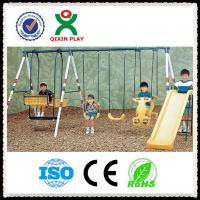 China Kids Swing and Slide Set / Outdoor Swing and Slide for Children QX-100G on sale