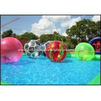China Multicolor Walk On Water Inflatable Human Hamster Ball For Water Park on sale