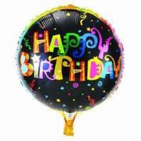 Wholesale 18-inch Birthday Helium Balloon, Made of PA and PE and AL, Customized Orders are Accepted from china suppliers