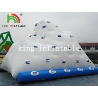 Backyard White Inflatable Water Iceberg / Durable PVC Custom Logo Printed Water Toy for sale
