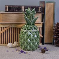 Wholesale Hot Sale Green Pineapple Ceramic Candle Jar With Lids For Decor from china suppliers
