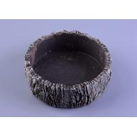 Wholesale Parties Material concrete cement candle holder round moss effect from china suppliers