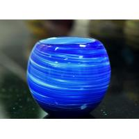 Wholesale Luxury Hand Made Coating Candle Holders Glass For Decoration , Round Ball Shape from china suppliers