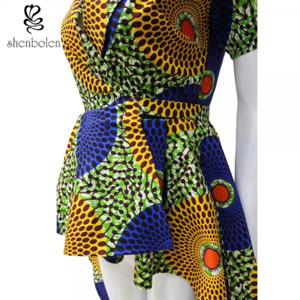 6f2cb7032ba591 OEM Service Mixed Color Ankara African Print Tops Short Sleeve High ...