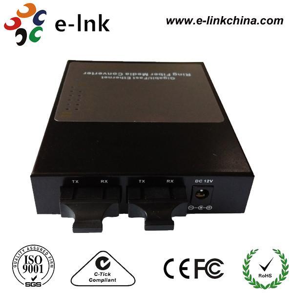 Quality MM Ring Network Fiber Ethernet Media Converter With 3 Rj45 Ethernet Port for sale