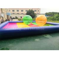 Wholesale 8 * 8 m PVC tarpaulin Blue Rainbow Color Inflatable Water Pool For Kids Playing from china suppliers