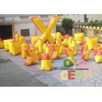 Wholesale Yellow Commercial Inflatable Paintball Bunkers Amazing For Holiday from china suppliers