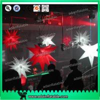Wholesale 1m Customized Red Star White Inflatable Star For Event With LED Lighting from china suppliers