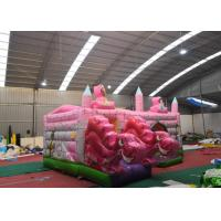Wholesale Pink Dinosaur Girl Blow Up Houses For Birthday Parties / Jumping Castle House from china suppliers