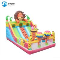 Wholesale PVC Inflatable Bounce Castle Animal Paradise Jumping Bouncer With Slide For Kids from china suppliers