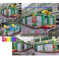 Wholesale Children Jungle Inflatable Bouncy Castle With slide / Jumping Castle For Rent from china suppliers