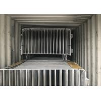 Wholesale Hot Dipped Galvanized Crowd Control Barriers 1090mm x 2500mm 14 microns hdg pre-galvanized cold zinc painted at welds from china suppliers