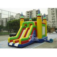Bright Colored Small Inflatable Bouncy Castles With Slide  for Children
