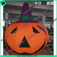 Wholesale 3m Customized Oxford Inflatable Pumpkin With Witch Hat  For Halloween Decoration from china suppliers