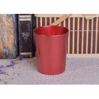 Wholesale Decoration Red Copper V Shaped Cup Metal Candle Jar Tin Candle Containers from china suppliers