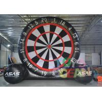 Buy cheap Black And White Gaint PVC Inflatable Soccer Foot Dart For Outdoor Sport Game from wholesalers