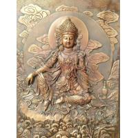 Wholesale Huge Solemn Bronze Buddha Statue / Large Buddha Statue For Temple Wall Decor from china suppliers