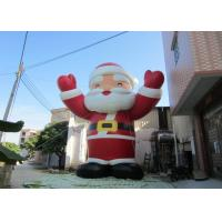 China Attractive Outdoor Inflatable Christmas Decorations Blow Up Santa Claus 8mH on sale
