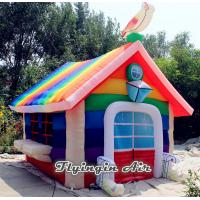 China Customized Inflatable Rainbow House Tent for Christmas and Party on sale