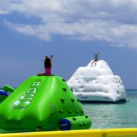 Wholesale 0.9mm PVC Tarpaulin Inflatable Water Sports Games / Blow Up Iceberg from china suppliers